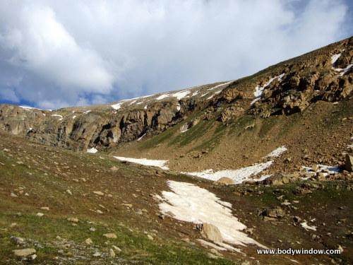 Cliff Bands below summit of Mount Oklahoma, Colorado