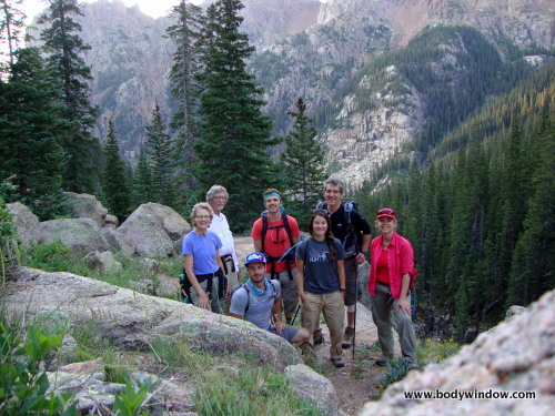 Climbing Jupiter mountain high in Johnson Creek Drainage