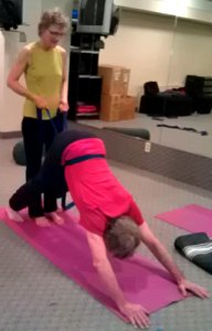 Downward Dog with a Yoga Strap