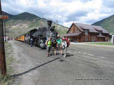 Silverton Stop at Durango and Silverton narrow gage railway