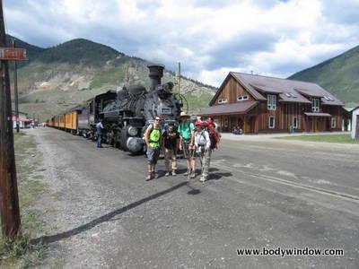 Silverton Stop at Durango and Silverton narrow gage railway