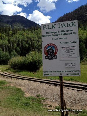 Elk Park Stop on Durango and Silverton Railway