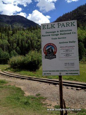 Elk Park Stop on Durango and Silverton Railway
