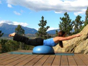 Bosu Balance Trainer, Locust Pose
