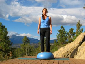 Mountain Pose on the Bosu Ball