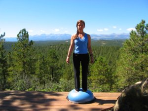 Standing Balanced on the Bosu Ball