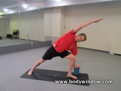 Extended Side Angle Pose with Yoga Block