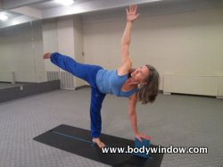Half Moon Pose with a Block