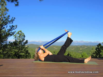 Hammock Pose preparation