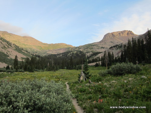 Point 12510 along the Johnson Creek Trail in southwestern Colorado