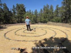 center spirals of the Chakra Vyuha labyrinth