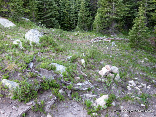 Leave Trail at Small Cairn