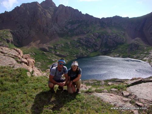 Hazel Lake and Grizzly Peak in San Juan Mountains, Colorado