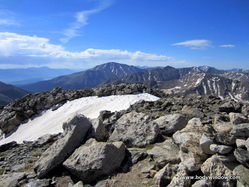 Mount Elbert from summit of Mount Oklahoma, Colorado