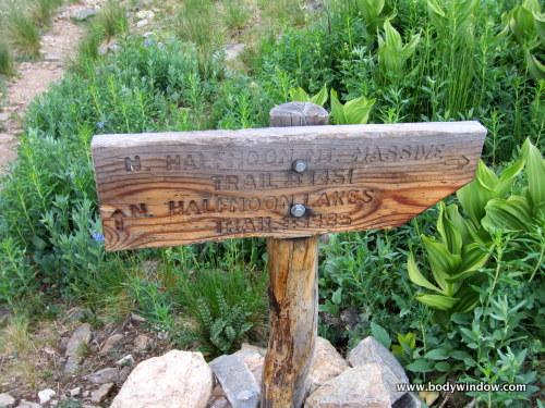 Turnoff to Mount Massive from North Halfmoon Creek Trail