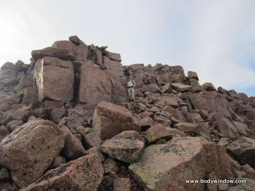 Final Summit Block on Pigeon Peak
