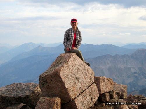 Elle Bieling on the Summit of Pigeon Peak