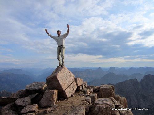 Rich Bieling on the Summit of Pigeon Peak
