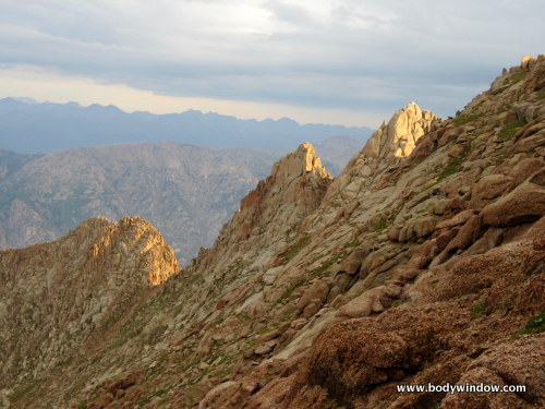 First Sunlight on Northwestern Ridge of Pigeon Peak