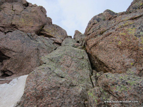 4th Class Crux Crack on Pigeon Peak