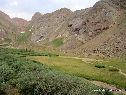 Idyllic High Meadow at 11,740 ft, under the ramparts of Pigeon Peak