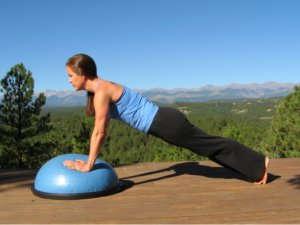 Yoga Plank Pose on the Bosu Balance Trainer