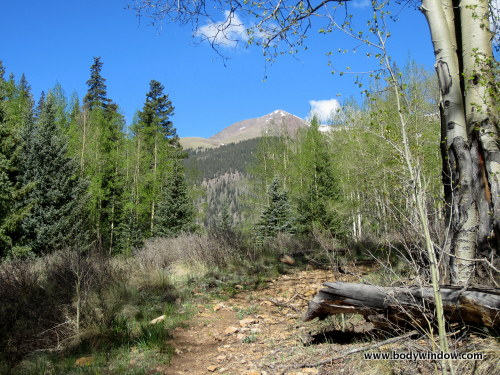 First View of Point 13811 on Williams Creek Trail near Lake City, CO