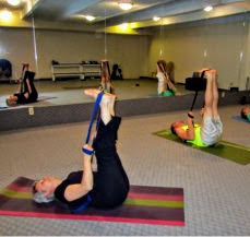 Raised Feet Pose with a Yoga Strap