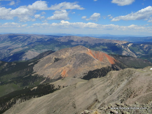Red Mountain, from the summit of Point 13,811 near Lake City, CO