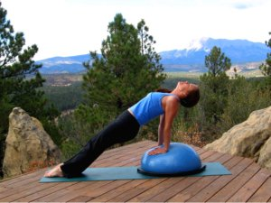 Bosu Ball, Reverse Plank position