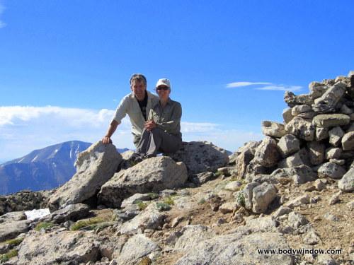 Rich and Elle on summit Mount Oklahoma