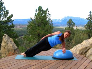 Bosu Balance Trainer, Side Plank Pose