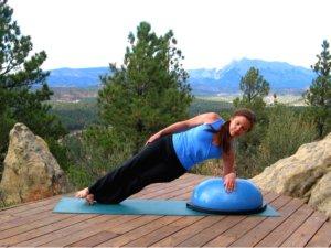 Bosu Balance Trainer, Side Plank Pose