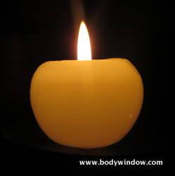 Single Candle Flame