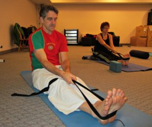Seated Forward Bend with a Yoga Strap