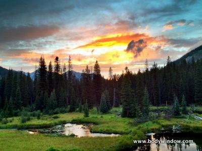 Sunset at Beaver Ponds, Vestal Peak Climb