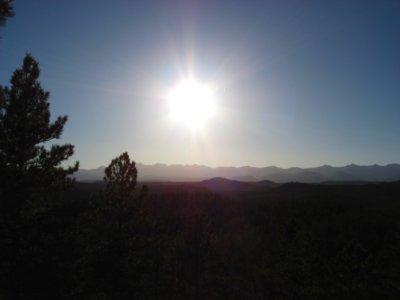 The Light over the Sangre de Cristo Mountains, Colorado
