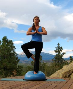 Yoga Tree Pose on the Bosu Ball