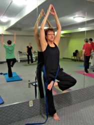 Tree Pose with Yoga Strap