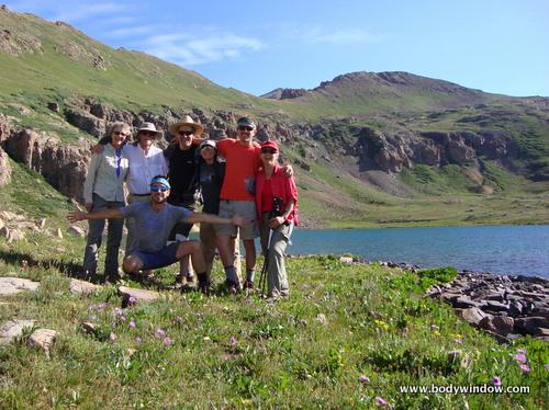 Cimbing Troupe at Columbine Lake, San Juans, Colorado