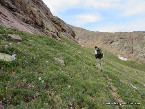 Easy Traverse under Pigeon Peaks Southwest Ridge