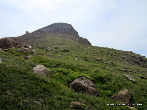 Below the Grassy Northwest Slopes of Turret Peak