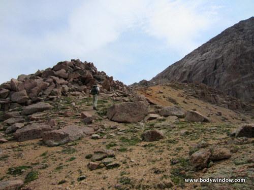 Rocky Mound on Northwest Ridge of Turret Peak