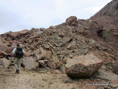 Northwest ridge of Turret Peak