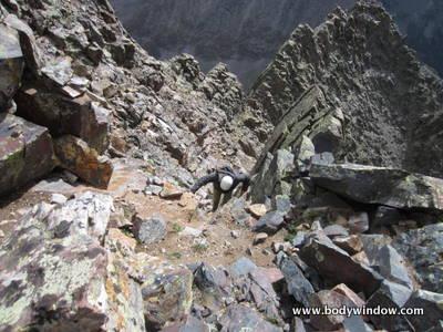 Class 2+ Climbing on Vestal Peak