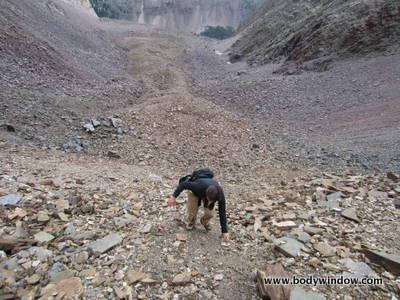 Dues Collector Couloir, Vestal Peak South Face Route