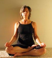 Wall Yoga, Half Lotus Pose