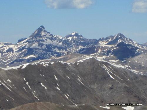 Wetterhorn Peak and Matterhorn Peak from summit of Point 13,811