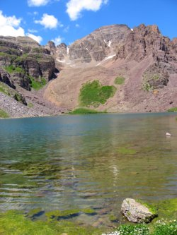 Cathedral Peak from Cathedral Lake, Aspen, Colorado