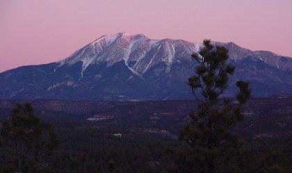 Sunrise over West Spanish Peak, CO
